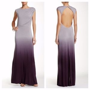 young fabulous & broke • ombre open back dress